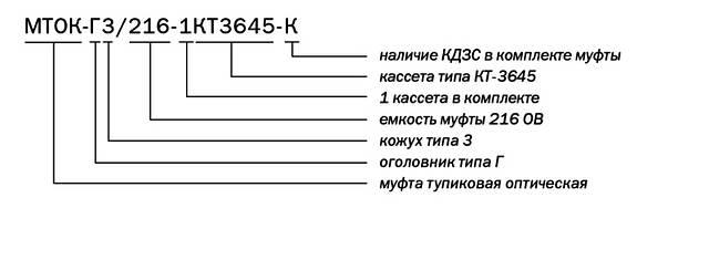 Муфта МТОК-Г3/216-1КТ3645-К