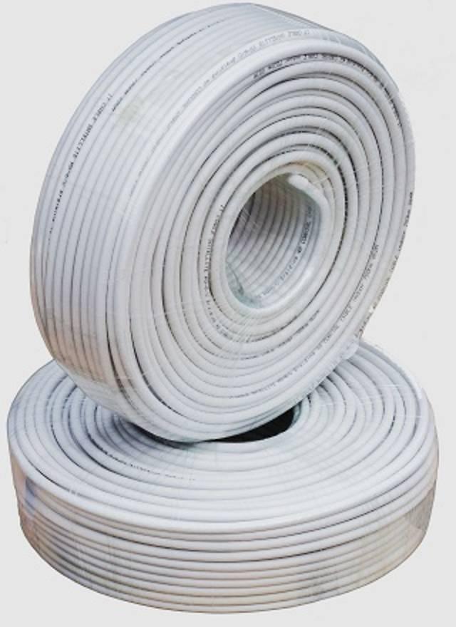 Кабель коаксиальный RG-6U IT cable, 75 Ом, CCS, белый, внутр., оплетка-48 жилы