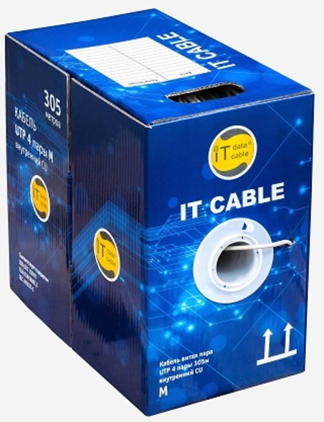 Кабель Витая пара UTP 4 пары, IT Cable, 305м. внутр. кат 5e