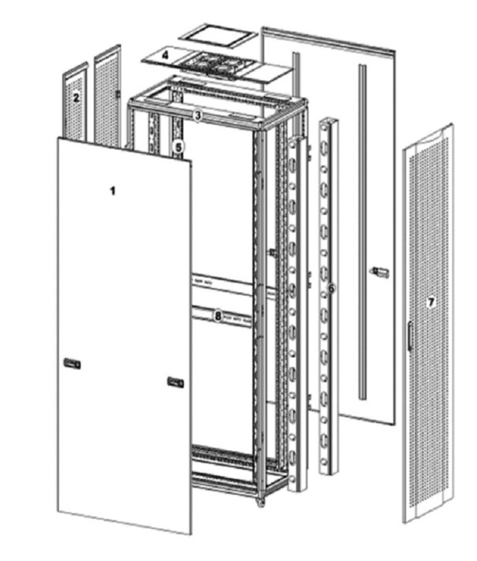 Серверный шкаф с перфорированной дверцей