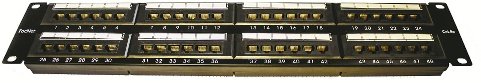 """Патч-панель FocNet, 48 портов, 19"""", кат. 5е 2U"""