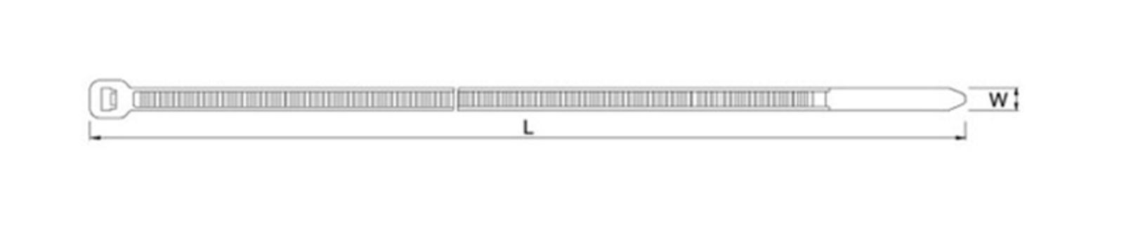 Хомут Nylon 4,8х350 мм