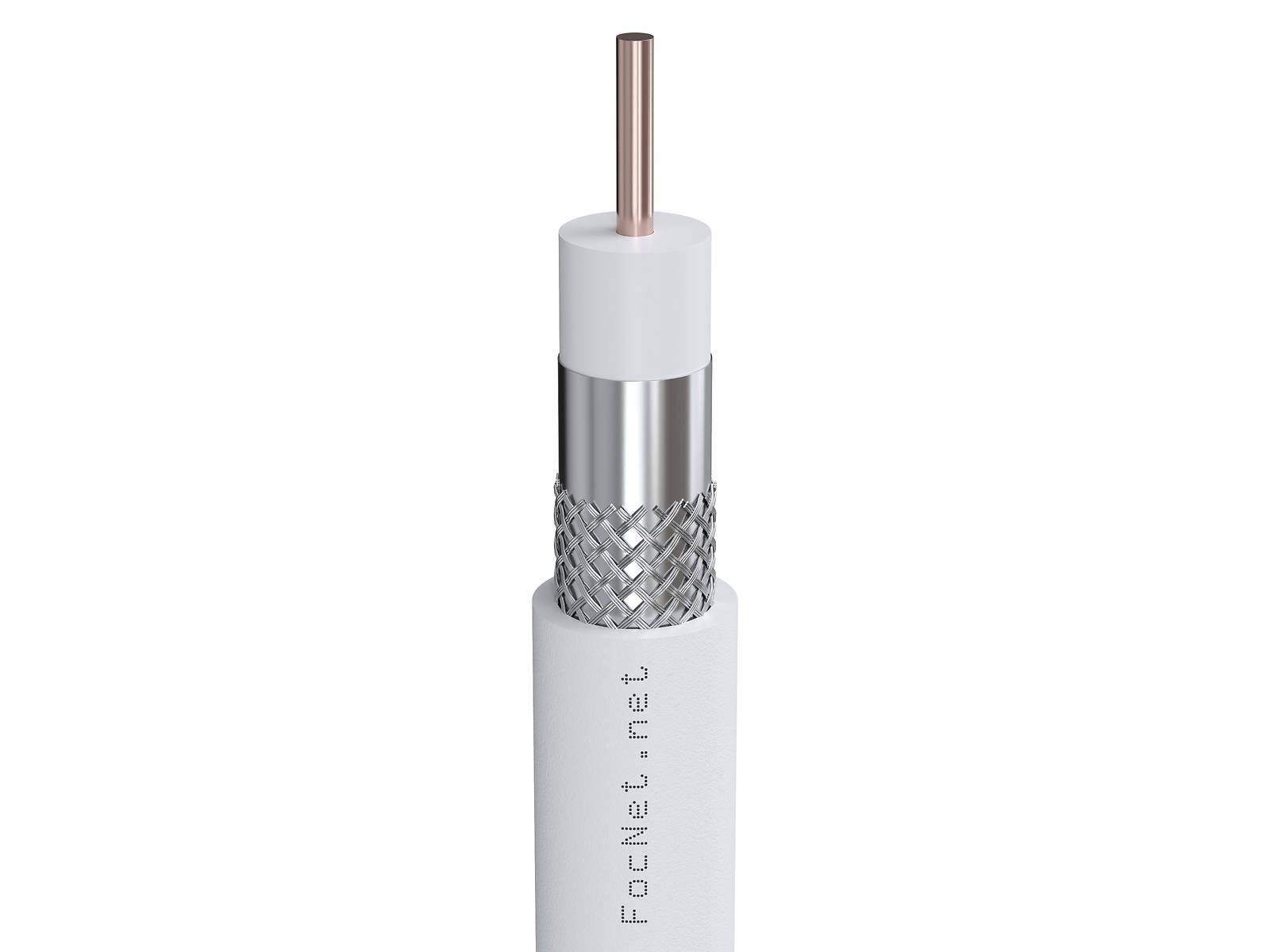 Кабель коаксиальный RG-59U IT cable, 75 Ом, CU, белый (250м)